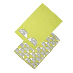 Dexam spike green tea towels, set of 2