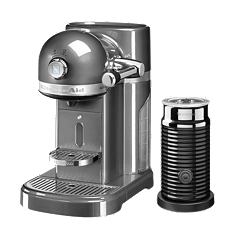 KitchenAid Artisan Nespresso aeroccino coffee machine