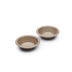 Paul Hollywood Set of 2 Non-Stick Individual Round Pie Dishes