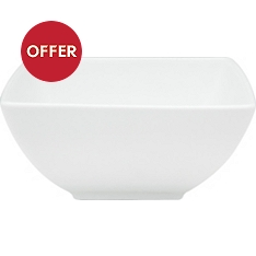 Waitrose Chef's White square cereal bowl