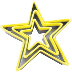 Star cookie cutters, set of 3