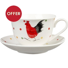 Churchill China Rooster cup and saucer set