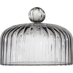 Waitrose Dining glass optic cake dome