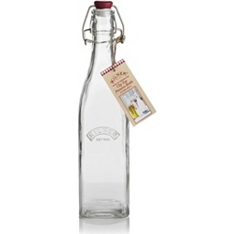 Kilner square clip top bottle, 550ml