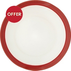 Waitrose Dining Oxford red dinner plate