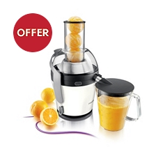 Philips 2.5L Avance White Quick Clean Juicer, HR1868/81