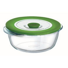 Pyrex round dish with lid, 15cm