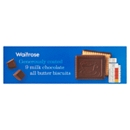Waitrose Milk Chocolate Coated All Butter Biscuits 125g