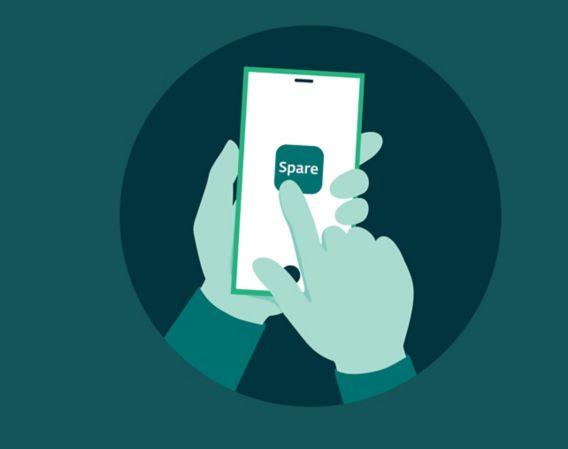 Illustrasjon av Spare-appen