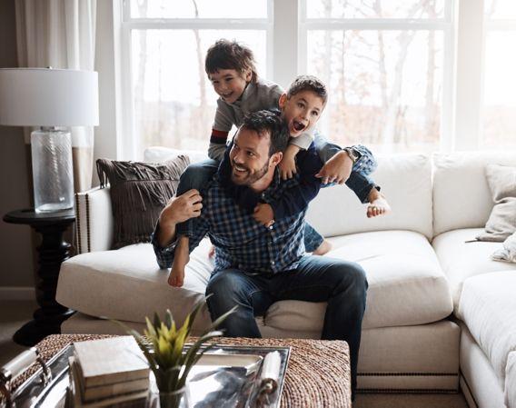 Far med sønner