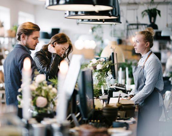 Bedriftseier med kunder