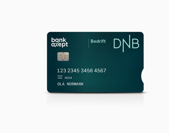 Bedriftskort med bankaxept
