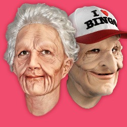 Realistische Masken und Gesichter aus Latex und Schaumlatex, Gesichter und Gesichts Masken, Gesichtsmasken