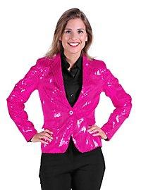 Paillettenjacke für Damen pink