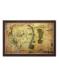 Der Hobbit - Karte von Mittelerde Wanddekoration