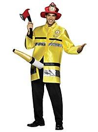 Feuerwehrmann mit langem Schlauch Kostüm