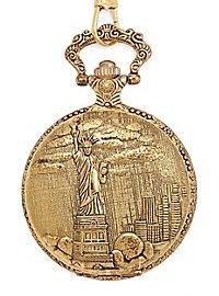 Freiheitsstatue Taschenuhr gold