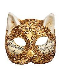Gatto stucco oro musica  Venezianische Maske