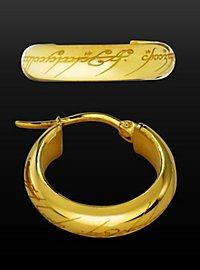Herr der Ringe - Ohrringe Der Eine Ring gold