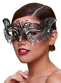 Kurtisane venezianische Maske aus Metall