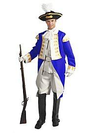Preussischer Offizier Kostüm weiß-blau