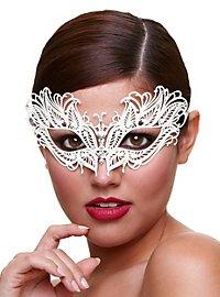 Schneekönigin venezianische Maske aus Metall