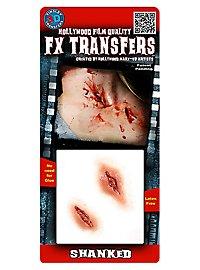 Stichwunde 3D FX Transfers