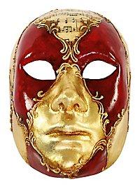 Volto Femminile scacchi rosso musica - Venezianische Maske