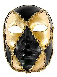 Volto scacchi oro cuoio - Venezianische Maske