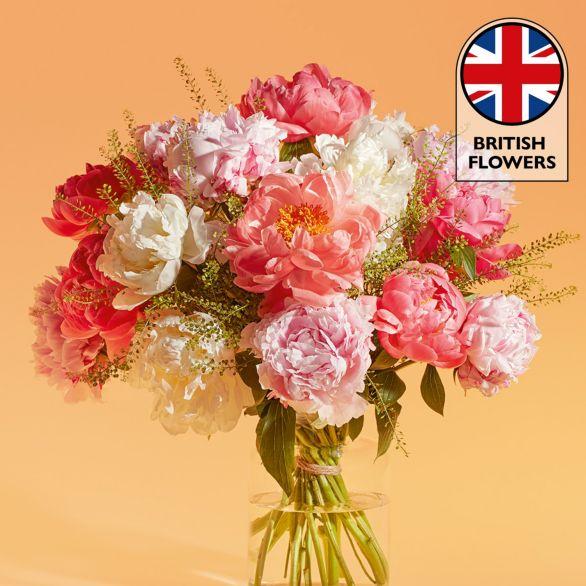 Abundance of Peonies Bouquet Pink