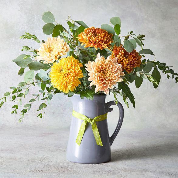 Autumn Chrysanthemum Jug Orange