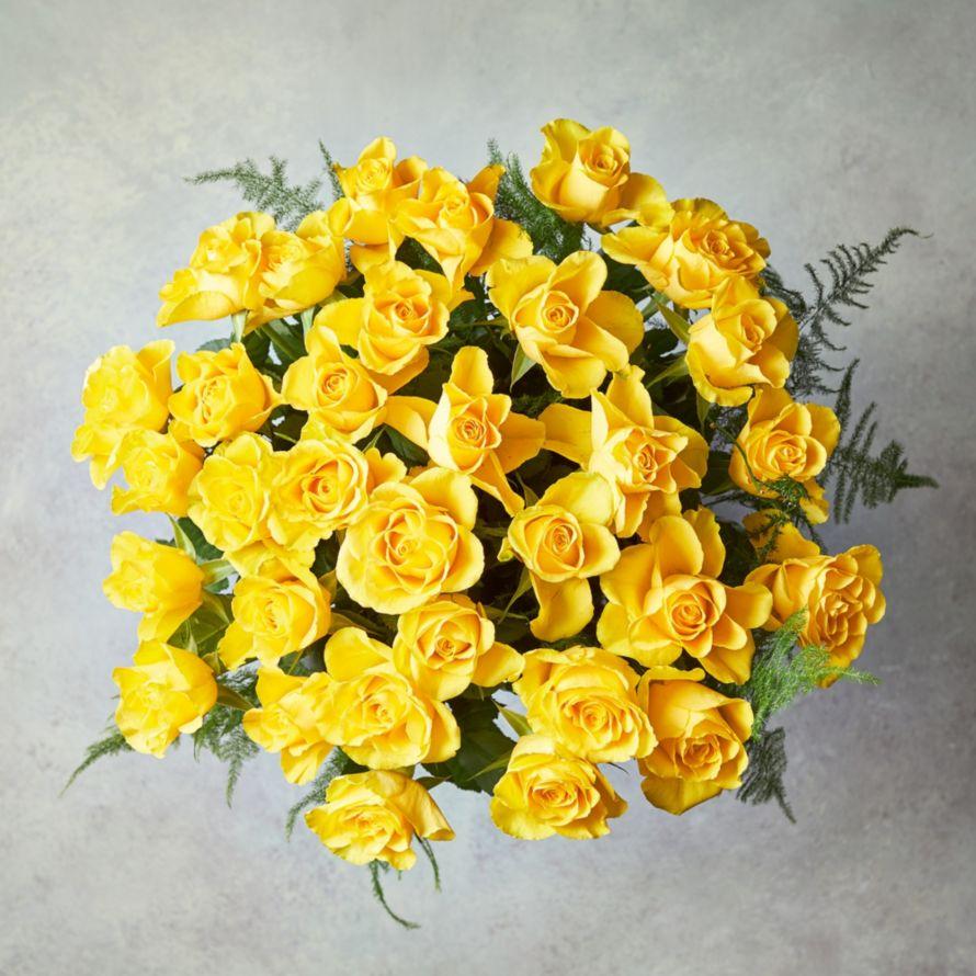 Foundation Yellow Roses Bouquet Waitrose Florist