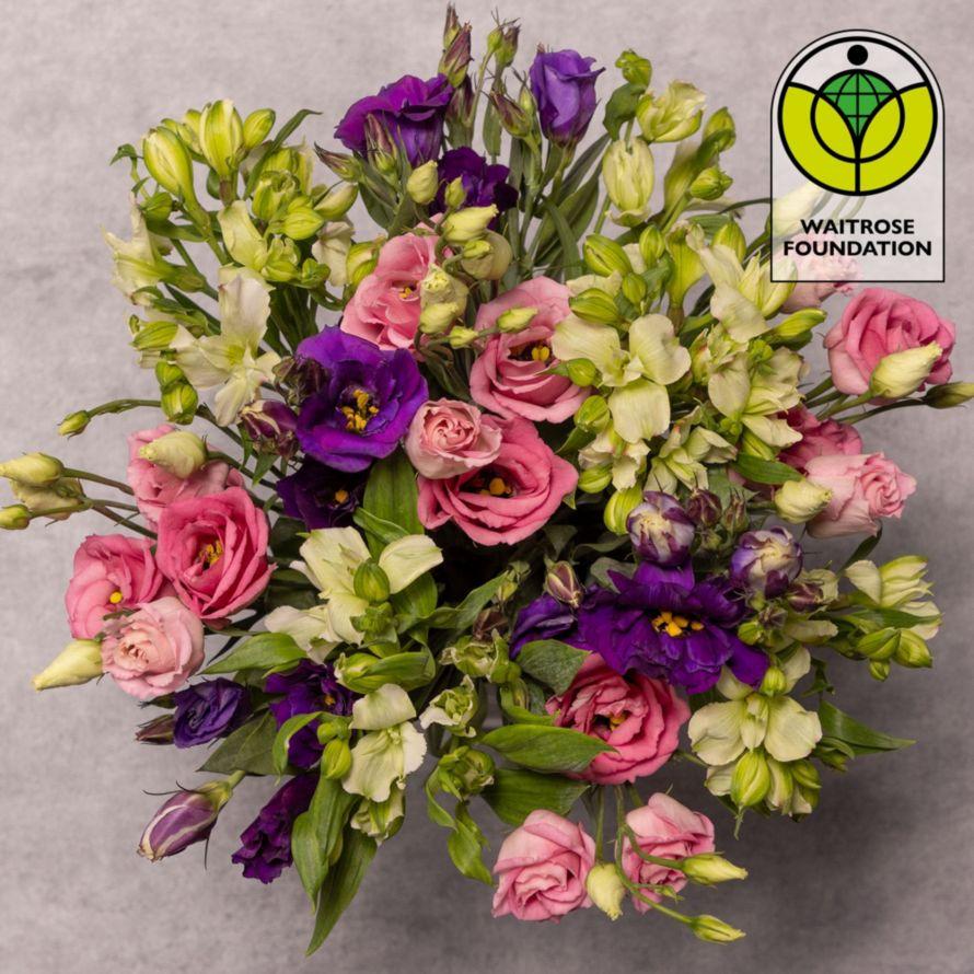Alstroemeria lisianthus bouquet waitrose florist izmirmasajfo