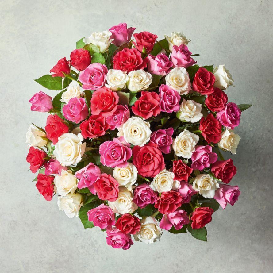 Large Mixed Sweetheart Roses Waitrose Florist