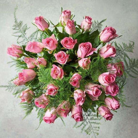 Foundation Pink Roses Bouquet Pink