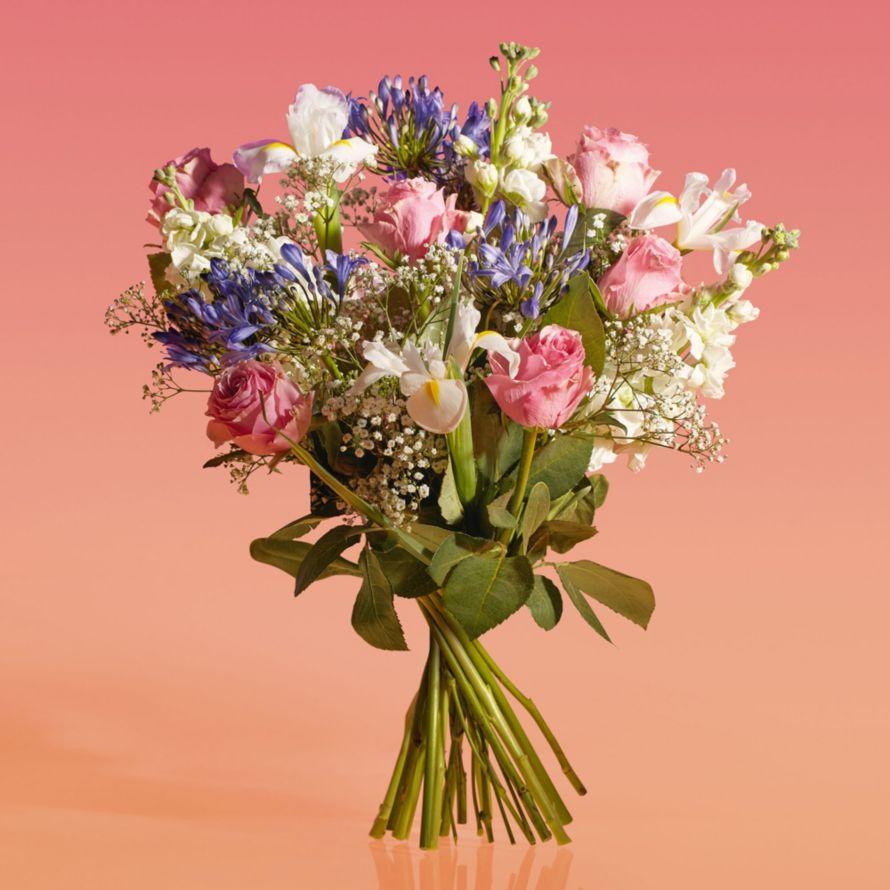 Roses agapanthus bouquet waitrose florist izmirmasajfo