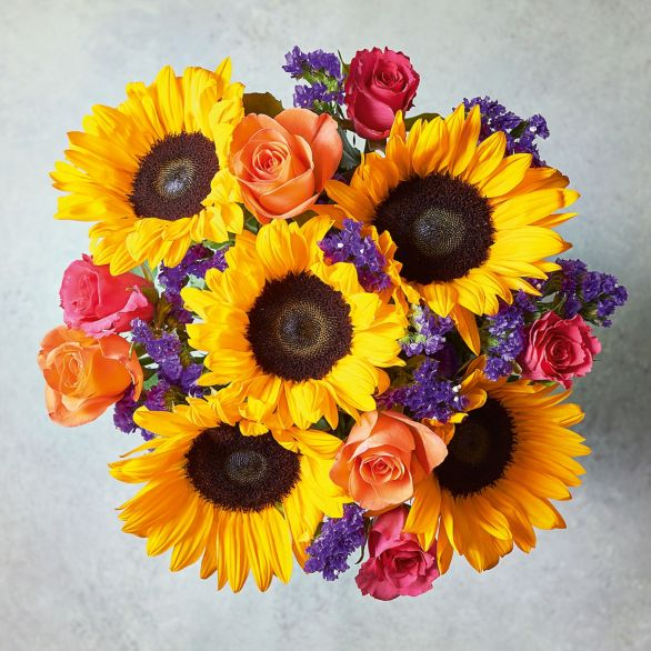 Foundation Spring Sunshine Flowers Bouquet Vibrant