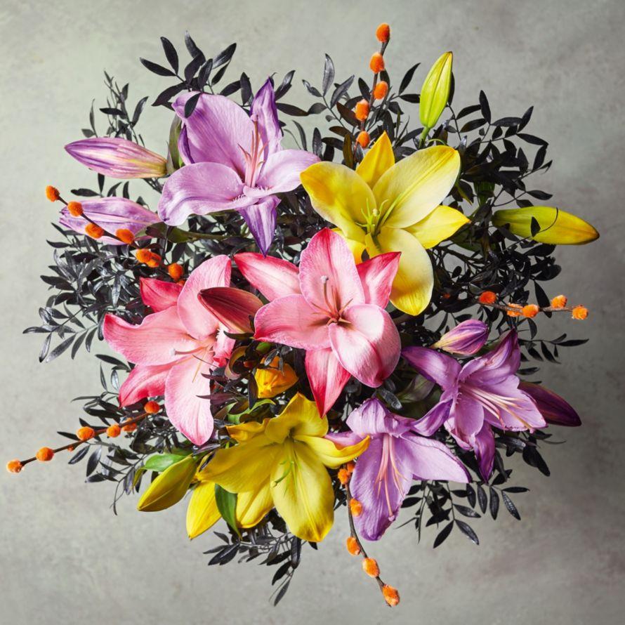 Halloween Day Of The Dead Bouquet Halloween Flowers Waitrose Florist
