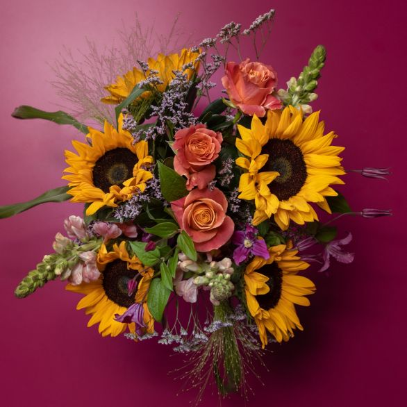 Early Summer Sunshine Flowers Bouquet Mixed vibrant