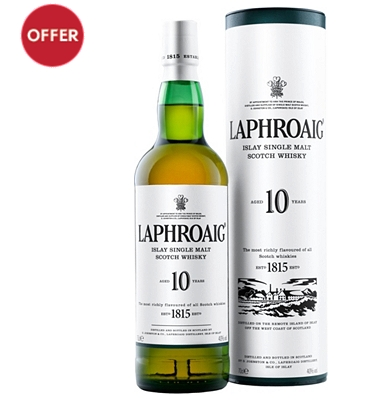 Laphroaig 10-Year-Old Islay Single Malt Whisky