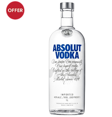 Absolut Vodka 1 Litre
