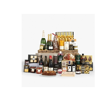 John Lewis & Partners Christmas Treasures Chest Hamper