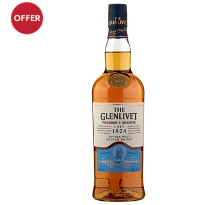 The Glenlivet Founder's Reserve Speyside Single Malt Scotch Whisky