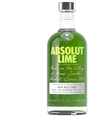 Absolut Lime Flavoured Vodka