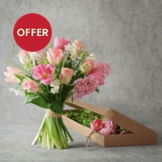 Pretty Pink Spring Bouquet - letterbox flowers