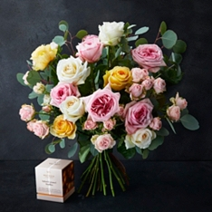 Mother's Day No.1 Scented Rose Bouquet and No.1 Salted Caramel Truffles