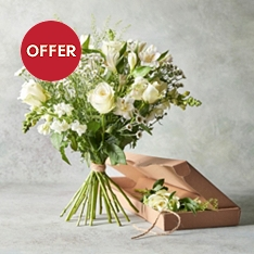 White Classic Bouquet - letterbox flowers