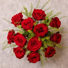 Valentine's Day Dozen Romantic Red Roses