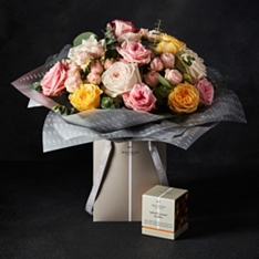 No.1 Valentine's Day Scented Roses with No.1 Truffles