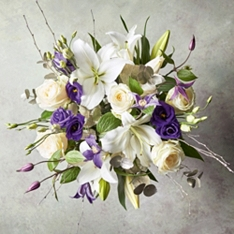 Scented White Lily & Rose Bouquet